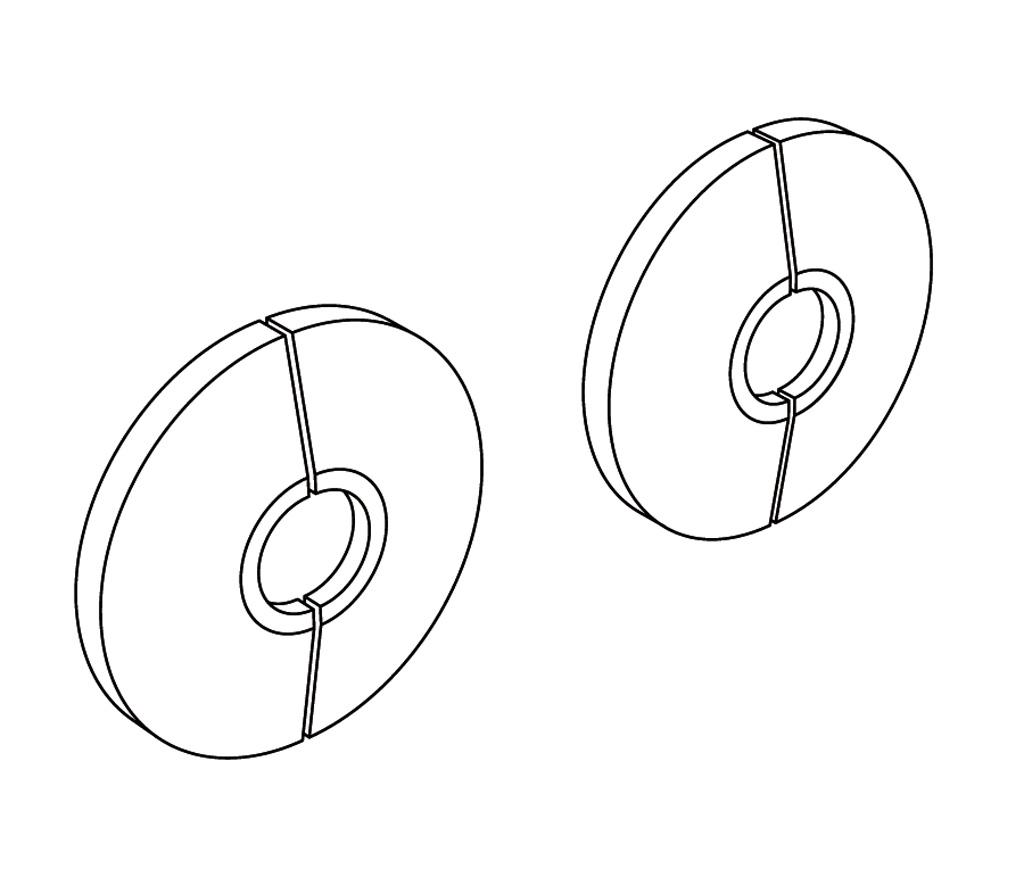 HTR-8CH Paire de plaques