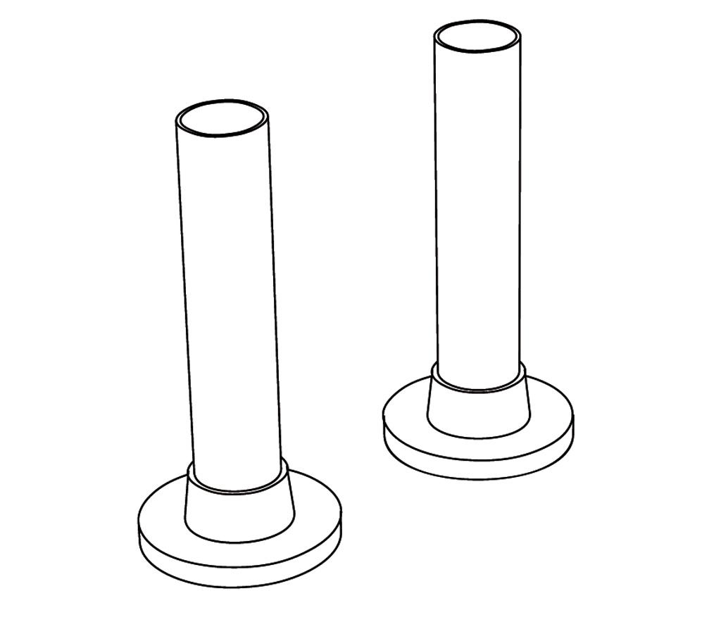 HTR-8PCH Paire de tubes avec plaque