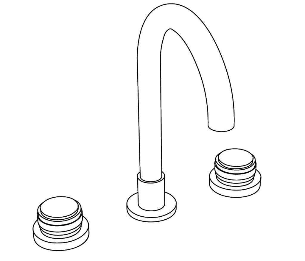 C29-1301 Mélangeur de lavabo 3 trous