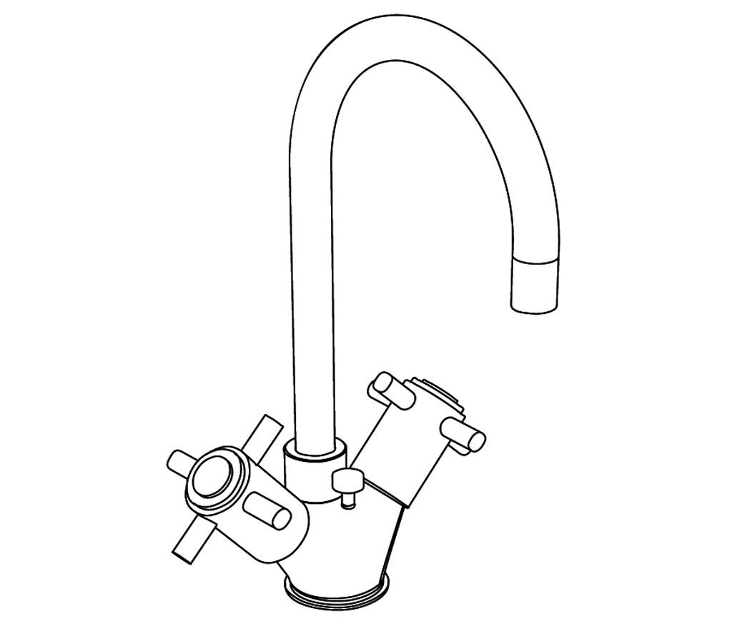C31-1101 Monotrou de lavabo