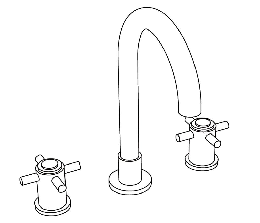 C31-1301 Mélangeur de lavabo 3 trous