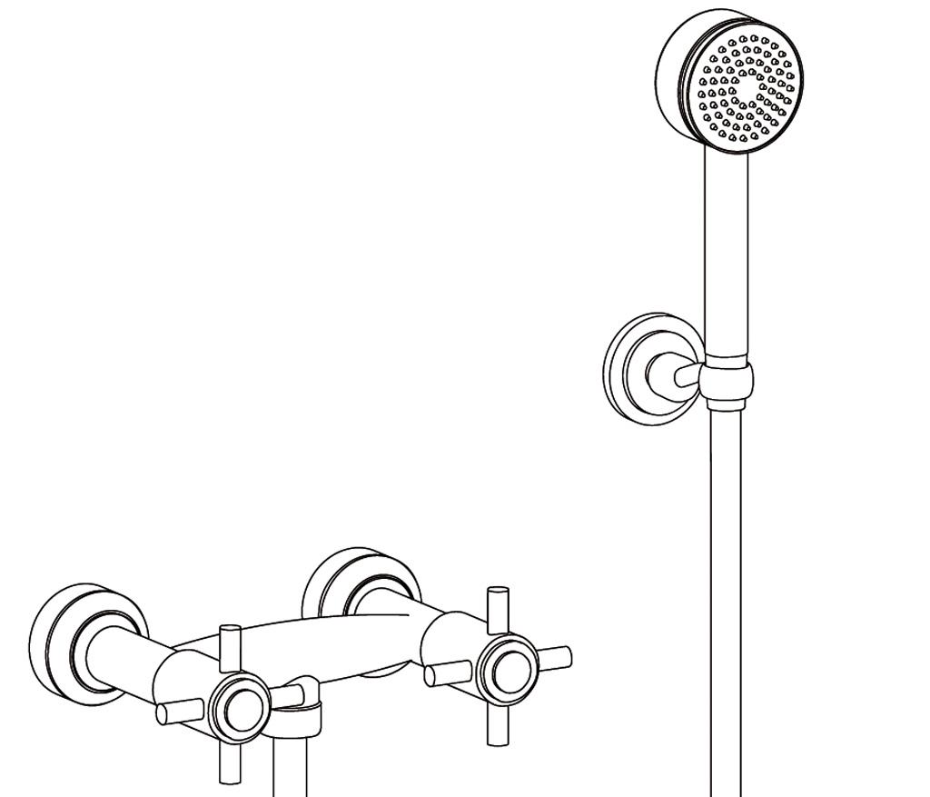 C31-2201 Wall mounted shower mixer