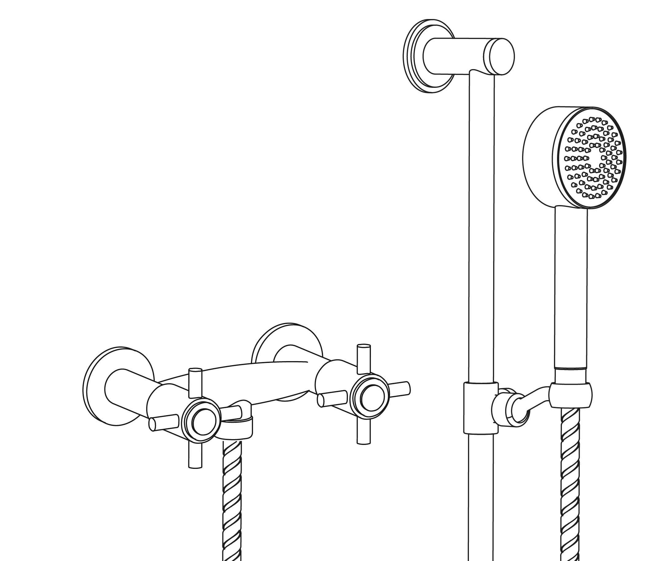 C31-2202 Wall mounted shower mixer