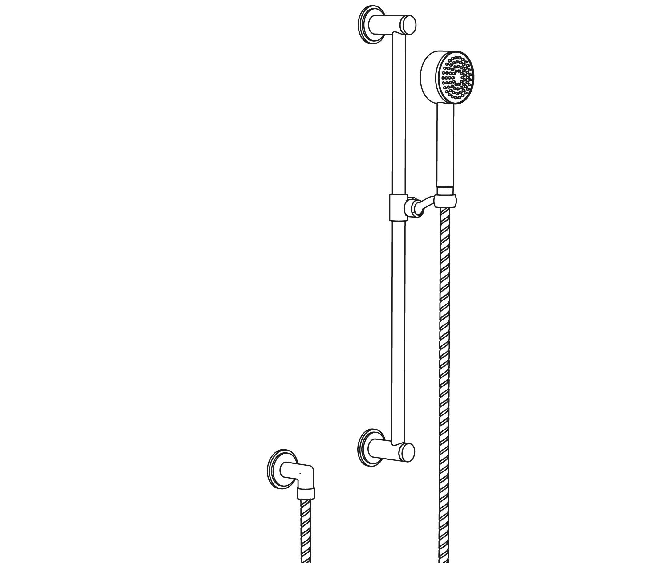 C31-2211 Wall shower set on sliding bar