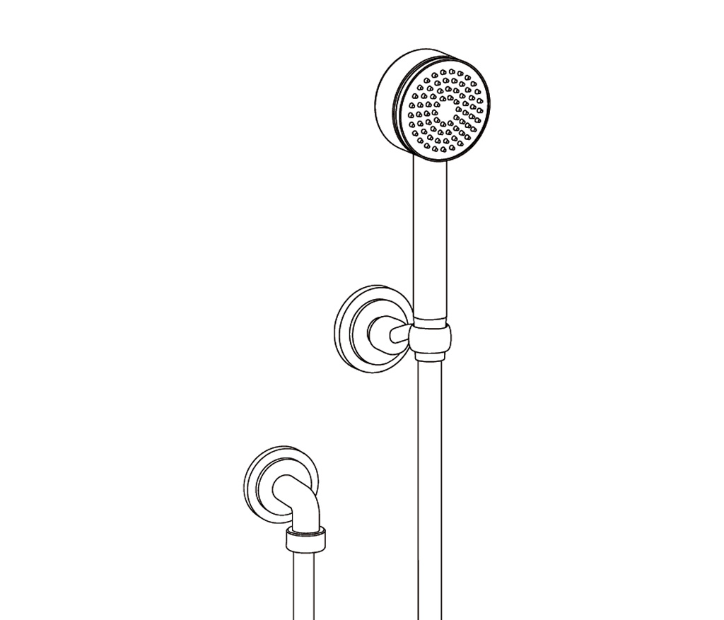 C31-2212 Wall shower set on fixed hook