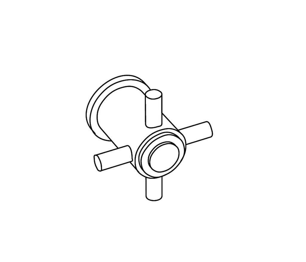 C31-229C Wall mounted valve 3/4″ C