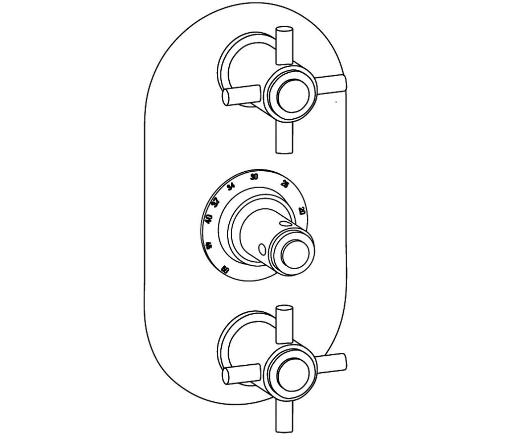 C31-2R22 Oval trim set