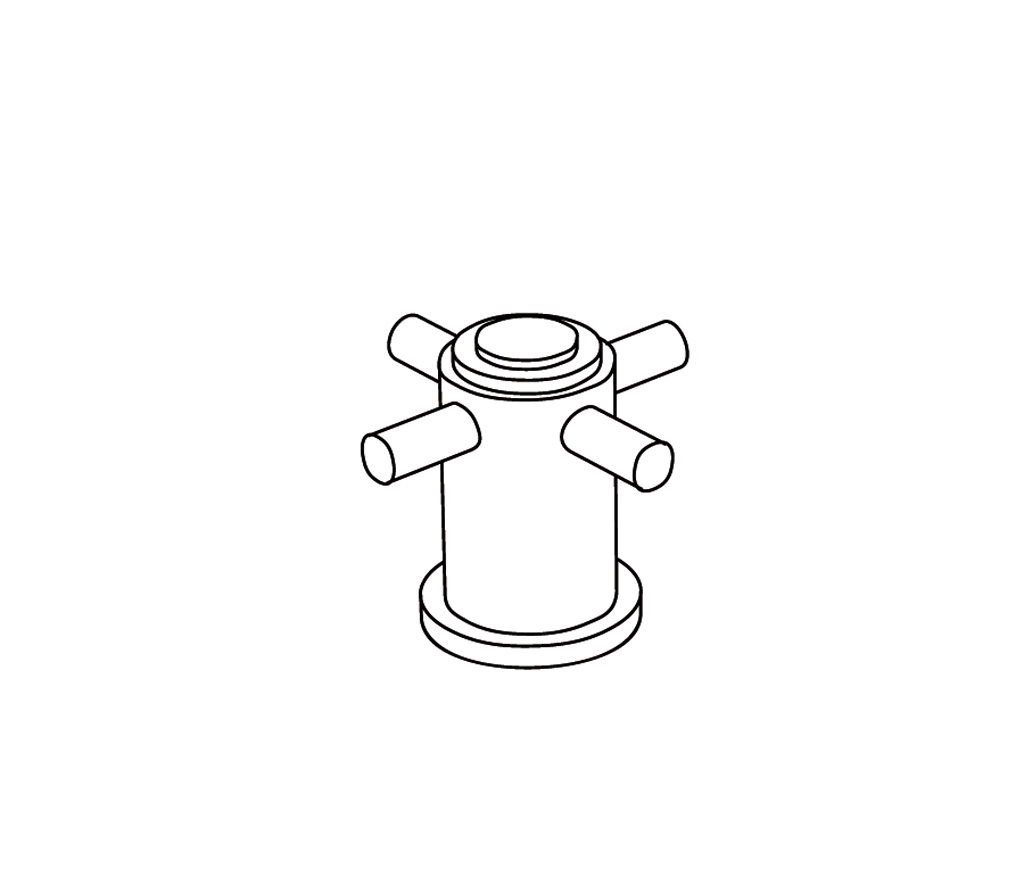 C31-327H Robinet d'alimentation 3/4″ sur gorgeC