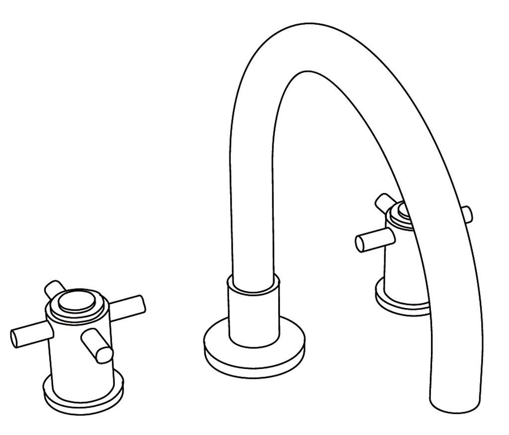 C31-3301 Mélangeur de bain 3 trous