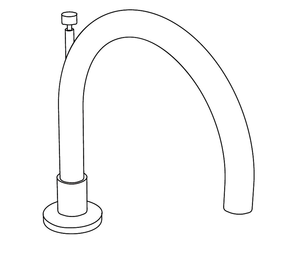 C31-3S1D Bec de bain sur gorge