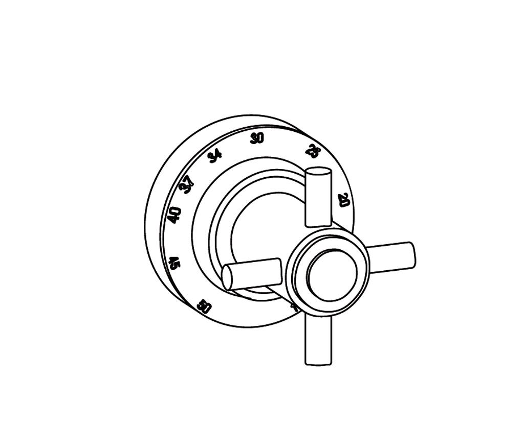 C31-4R0 Plaque ronde Ø80mm