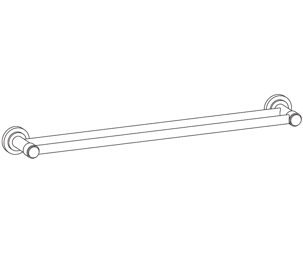C31-509 Porte-serviette 2 barres fixes
