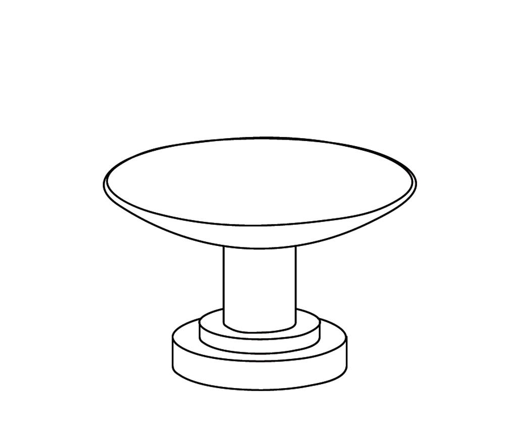 C31-518 Porte-savon rond