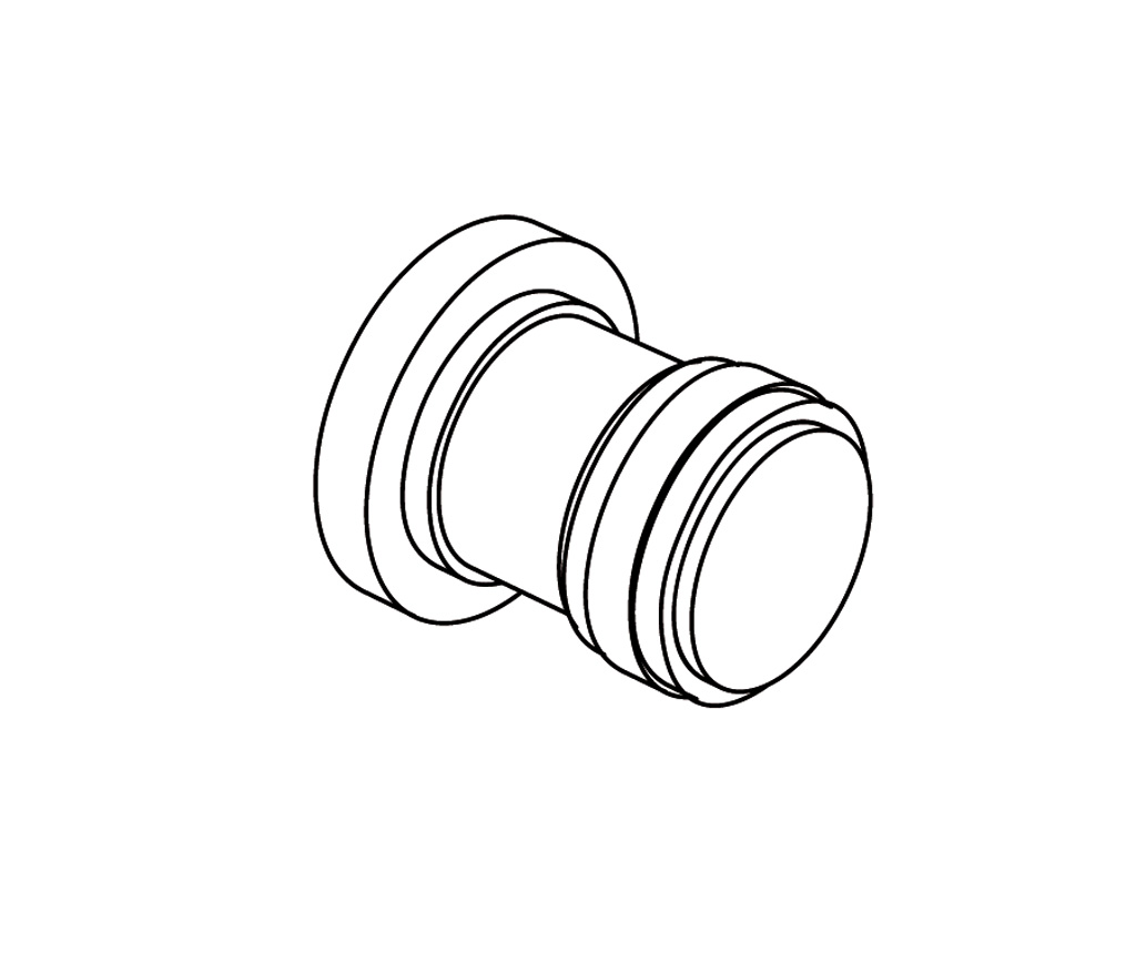 C31-526 Bouton de porte avec plaque
