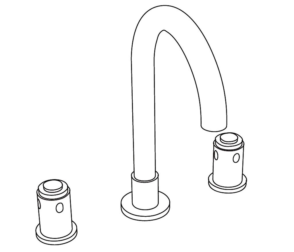 C32-1301 Mélangeur de lavabo 3 trous
