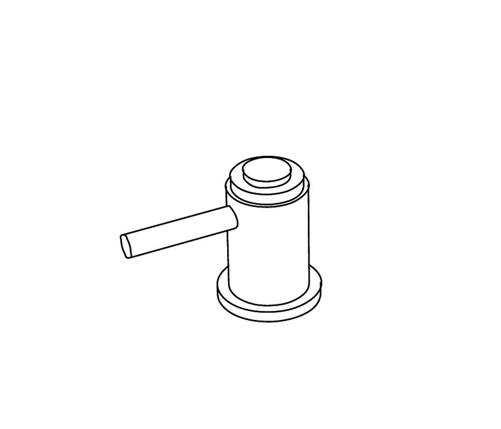 C33-126H Robinet d'alimentation 1/2″ sur gorgeC
