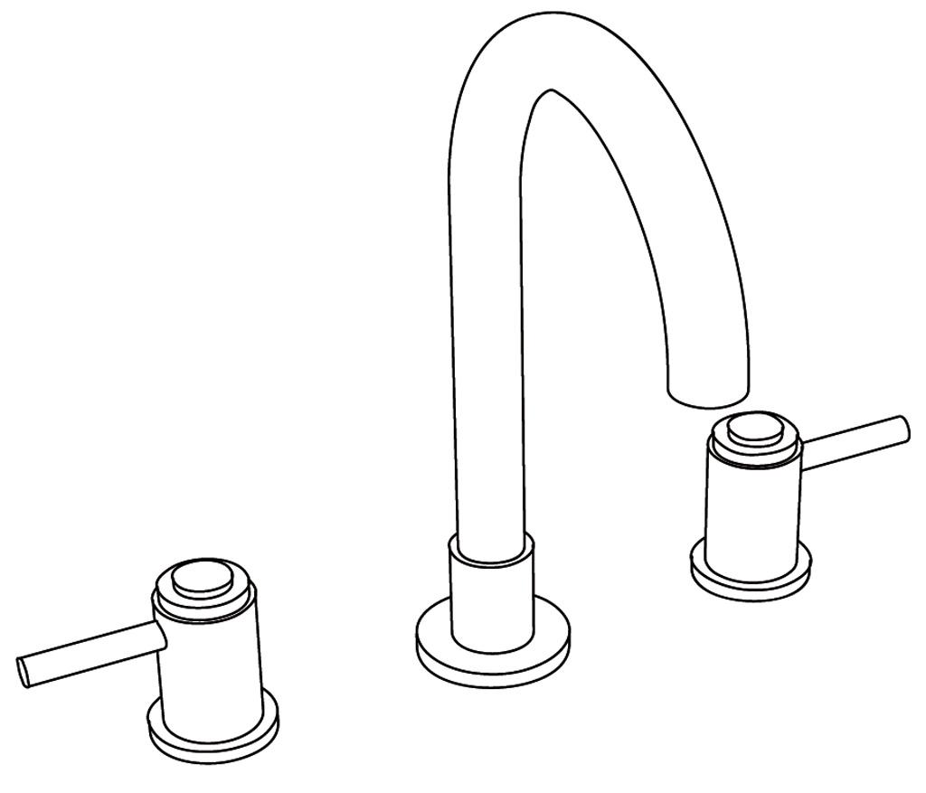C33-1301 Mélangeur de lavabo 3 trous