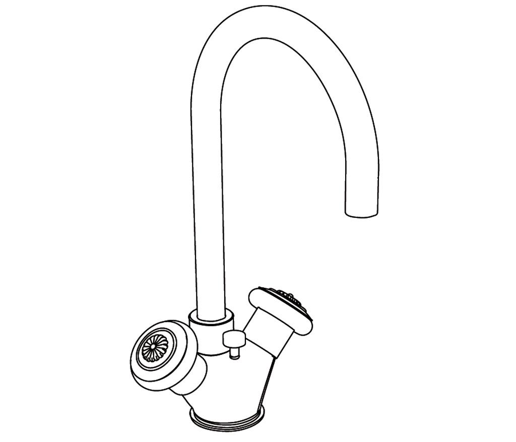 c36-1101 mélangeur monotrou de lavabo
