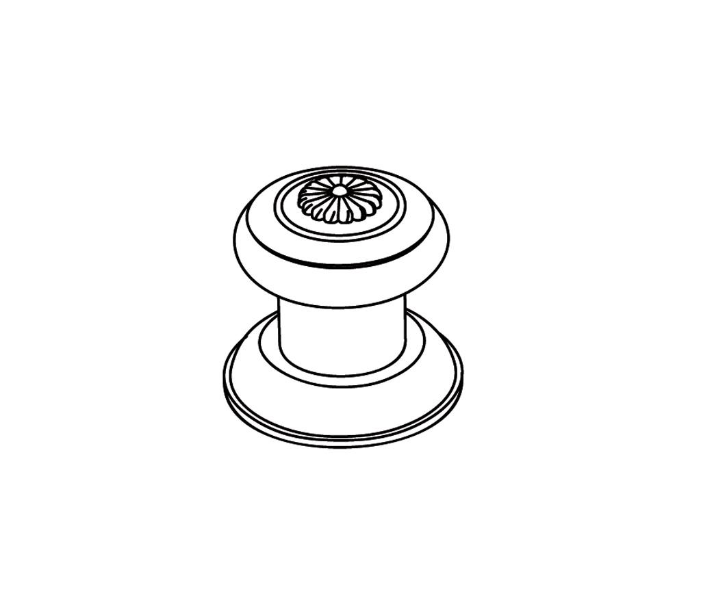 C36-126C Robinet d'alimentation 1/2″ sur gorgeF
