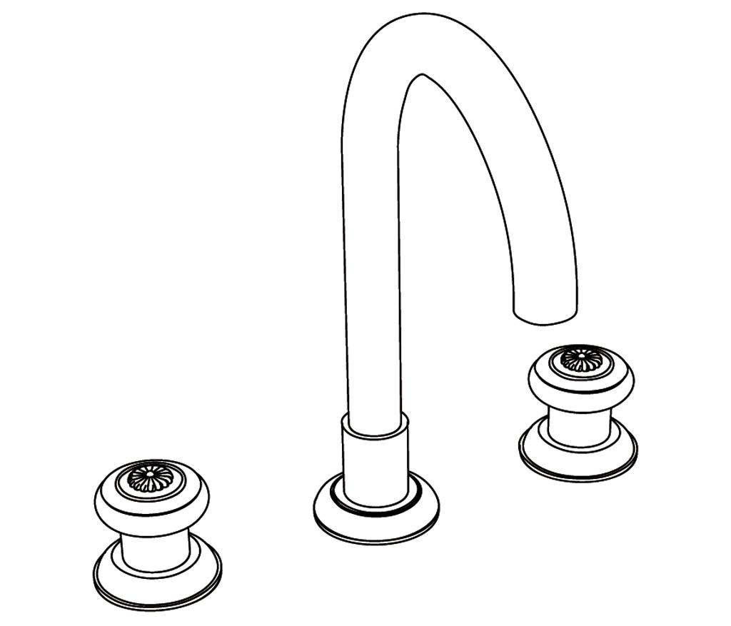 C36-1301 Mélangeur de lavabo 3 trous