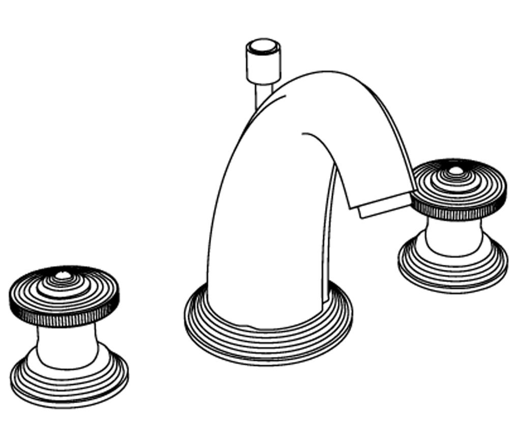 C37-1301 Mélangeur de lavabo 3 trous