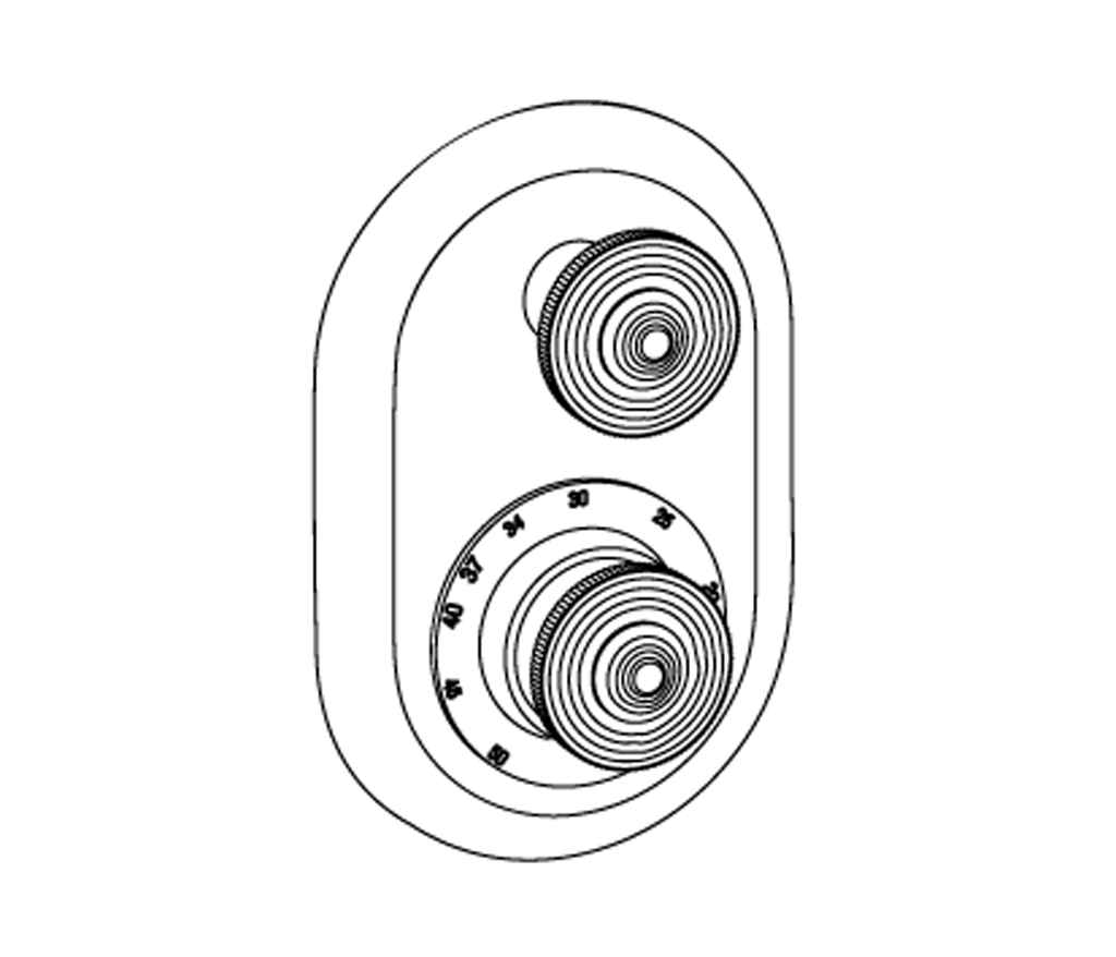 C37-2R21 Plaque ovale