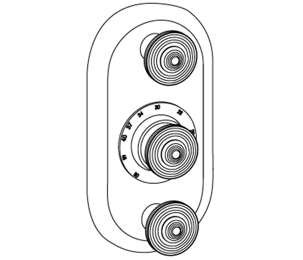 C37-2R22 Plaque ovale