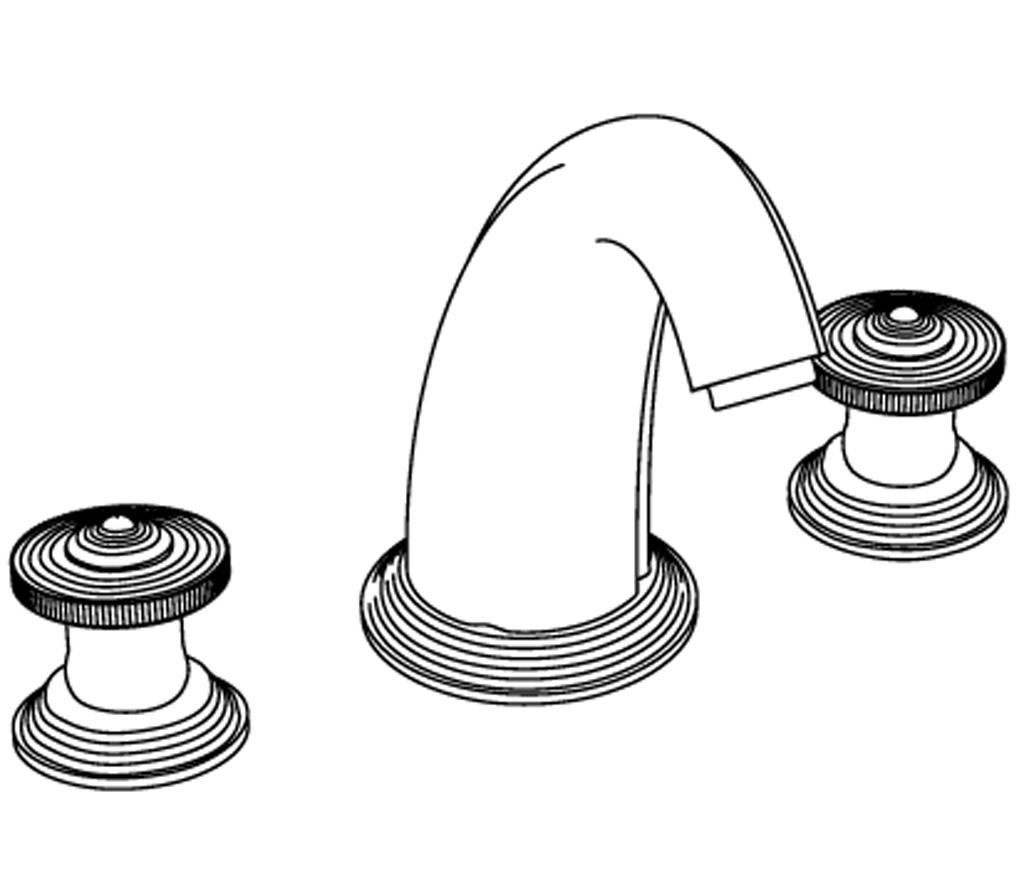 C37-3301 Mélangeur de bain 3 trous