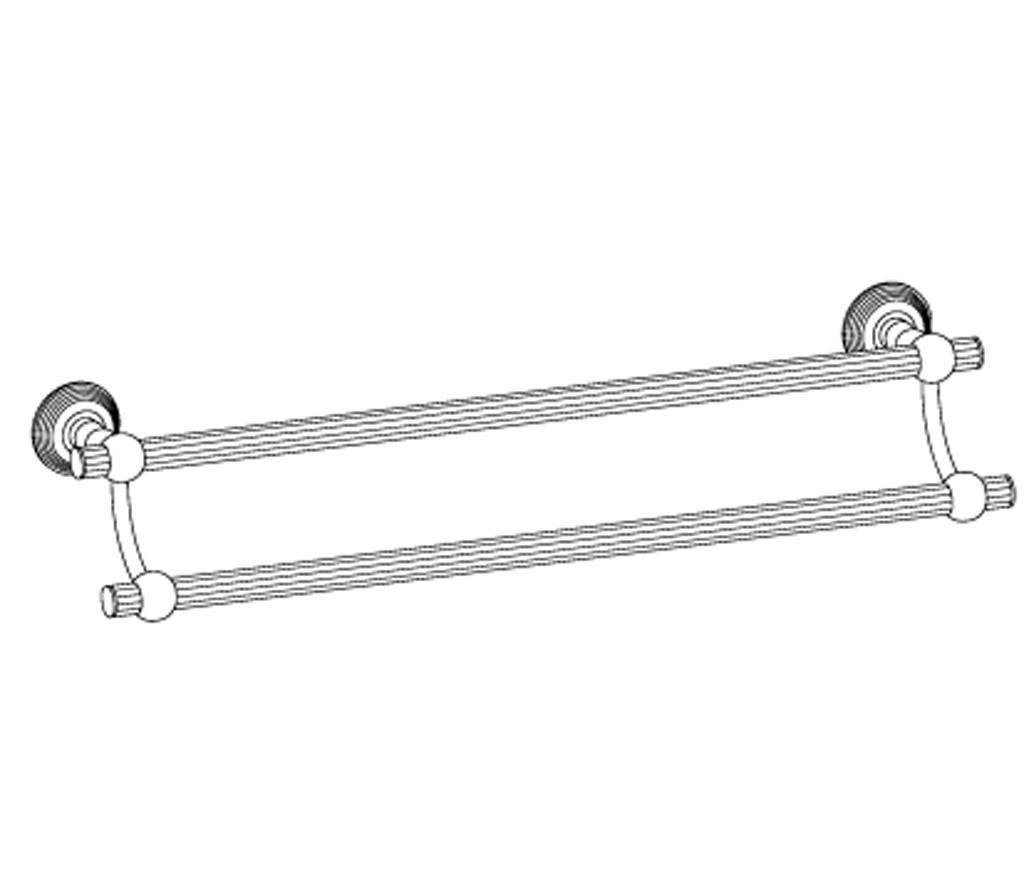 c37-509 porte-serviette 2 barres fixes