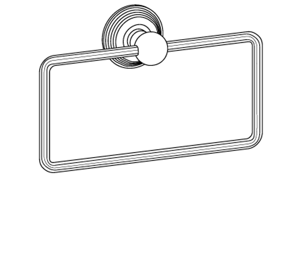 c37-511 porte-serviette rectangle