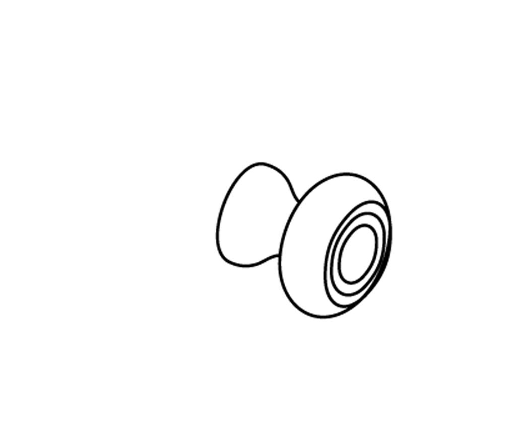 c37-525 bouton de meuble sans plaque