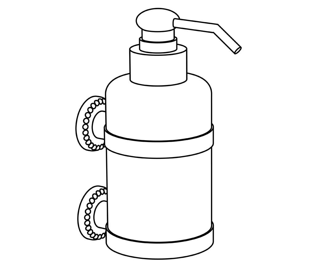 c37-530 distributeur de savon liquide mural