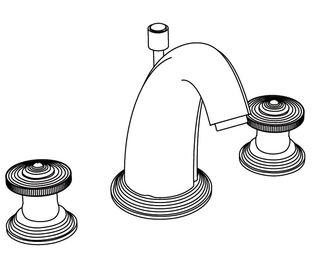 C38-1301 Mélangeur de lavabo 3 trous