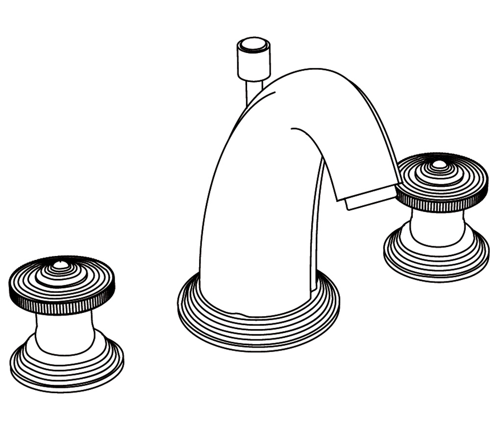 C39-1301 Mélangeur de lavabo 3 trous