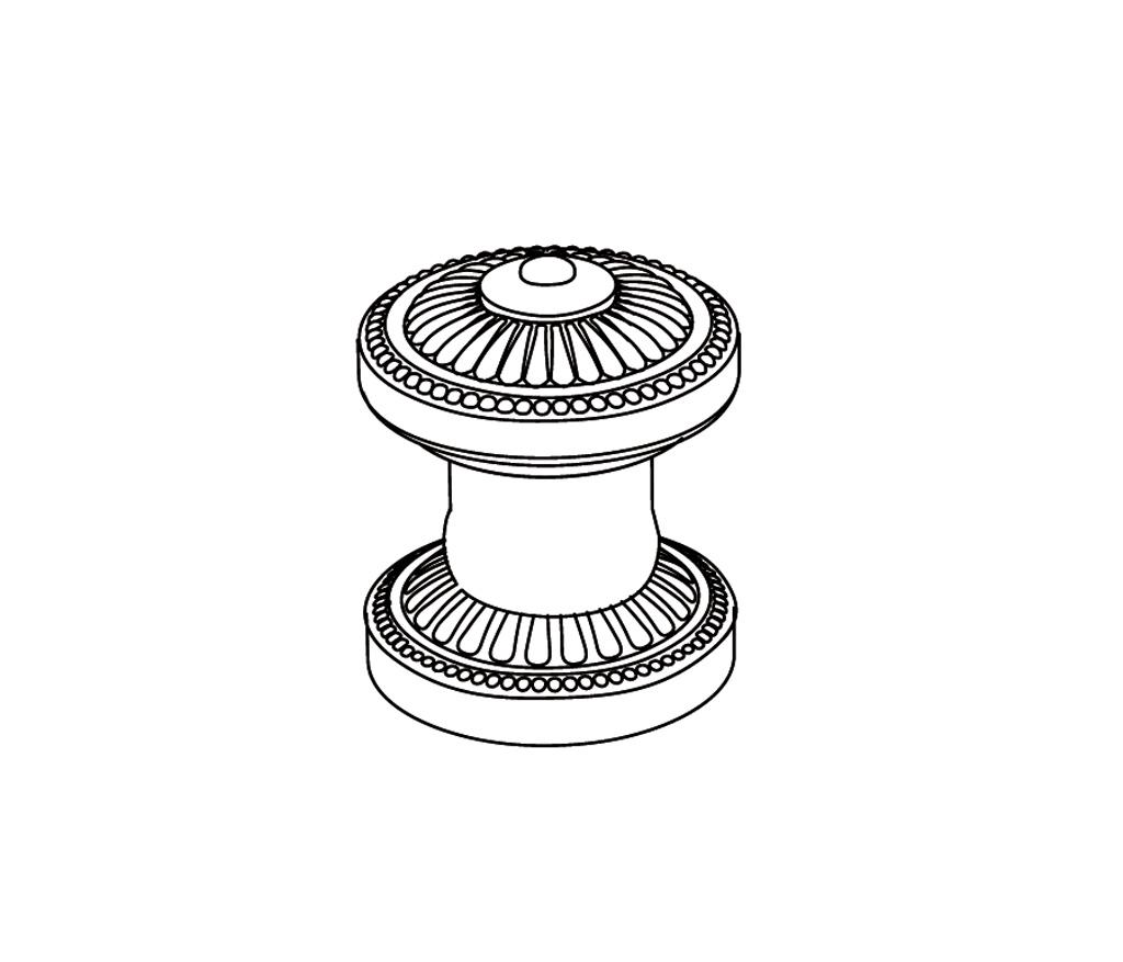 C40-126H Robinet d'alimentation 1/2″ sur gorgeC