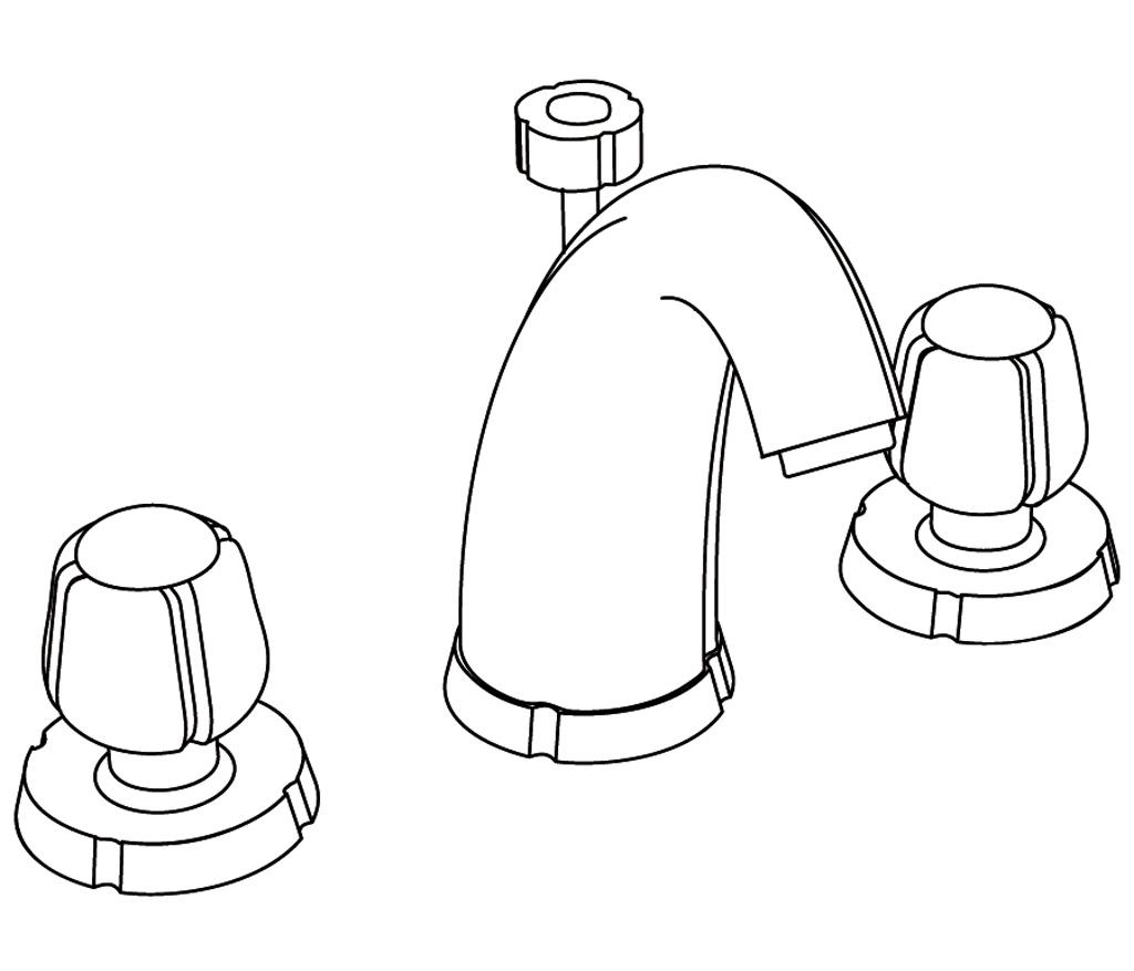 C41-1301 Mélangeur de lavabo 3 trous