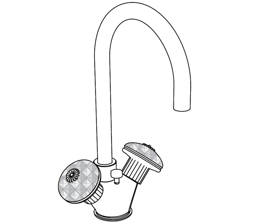 C43-1101 Mélangeur monotrou de lavabo