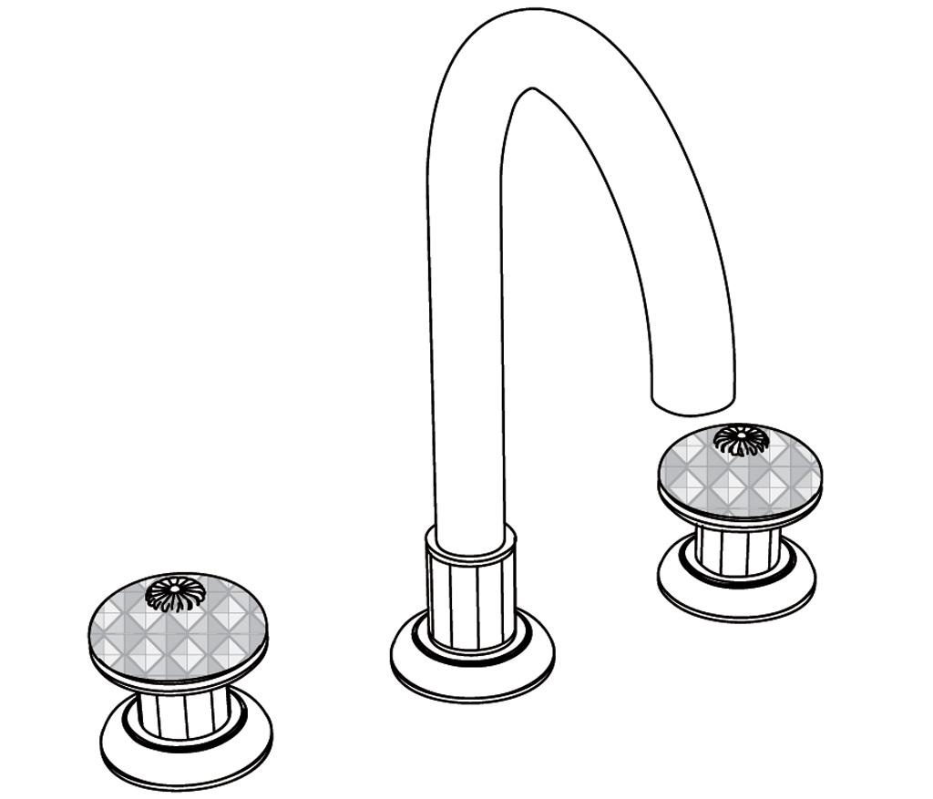 C43-1301 Mélangeur de lavabo 3 trous