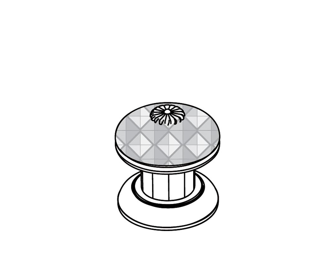 """C45-126H Rim mounted valve 1/2"""" H"""