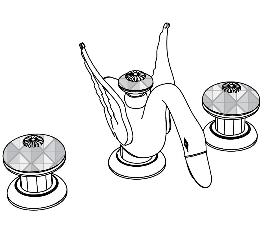 C45-1301 3-hole basin mixer