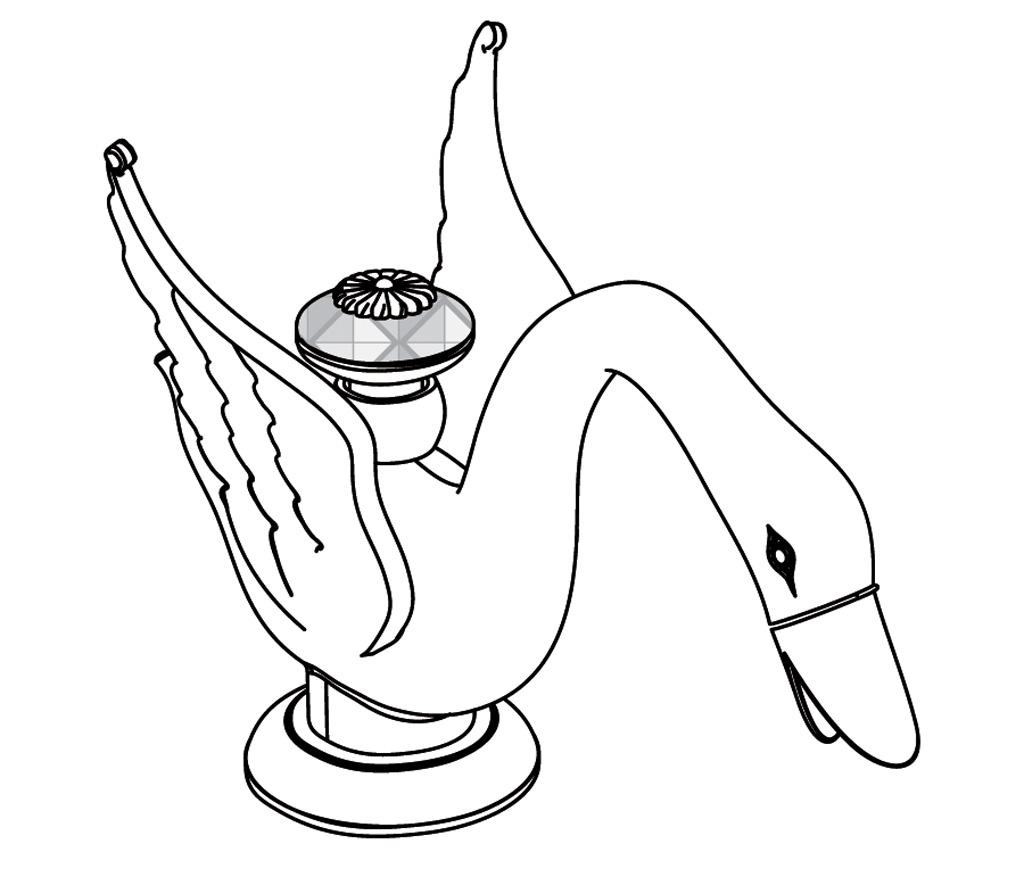 C45-1S1 Bec de lavabo sur gorge
