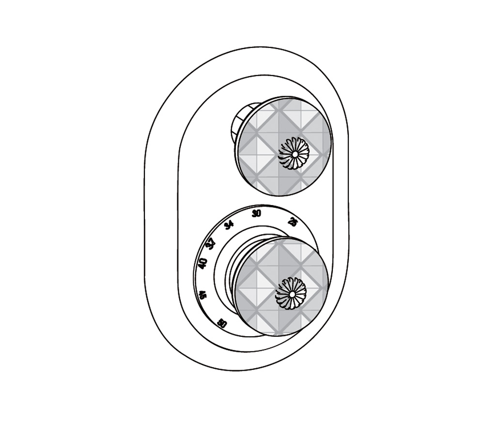 C45-2R21 Plaque ovale