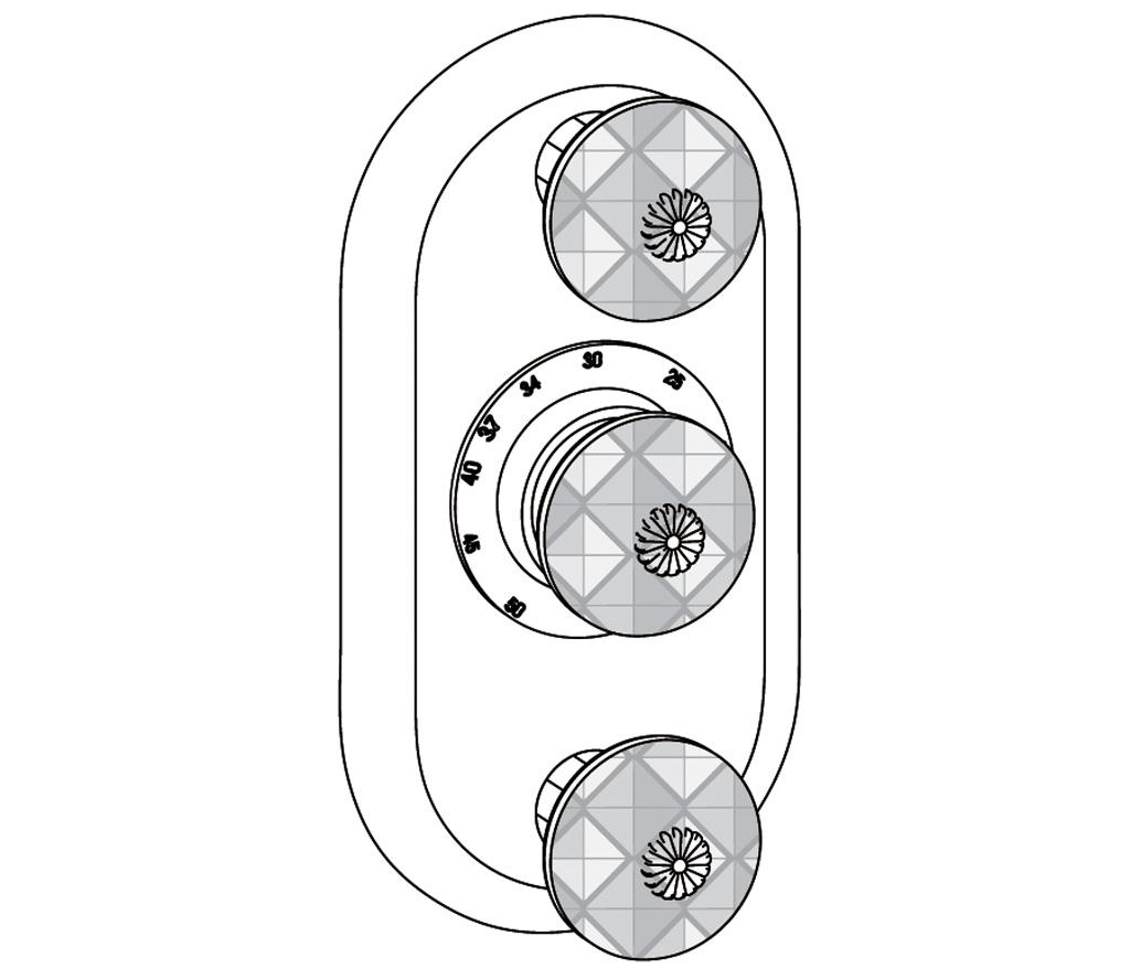C45-2R22 Plaque ovale