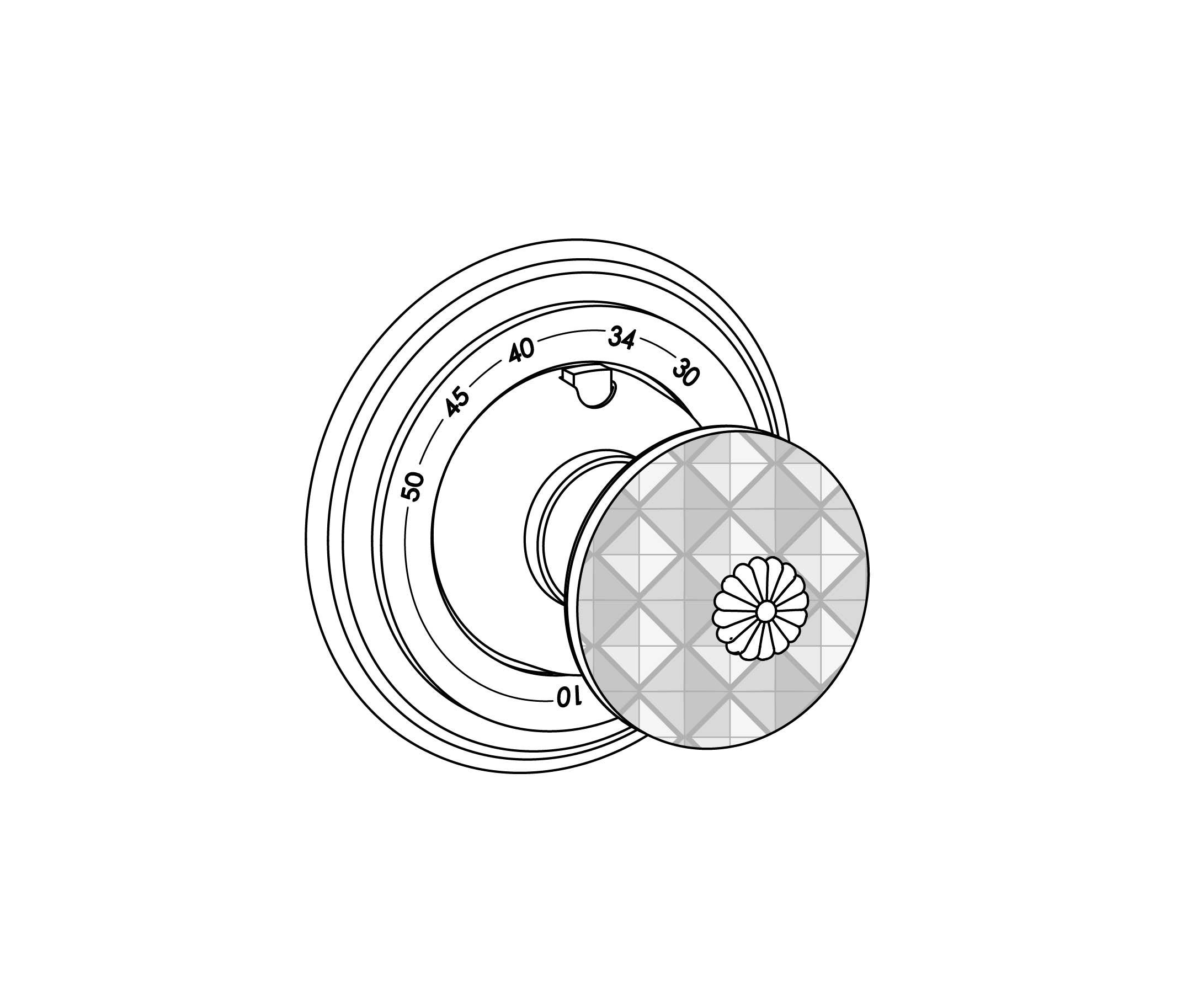 C45-4R0 Plaque ronde Ø80mm