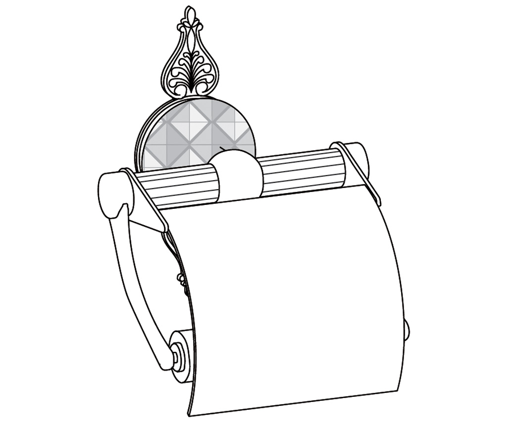 C45-503 Porte-rouleau avec couvercle