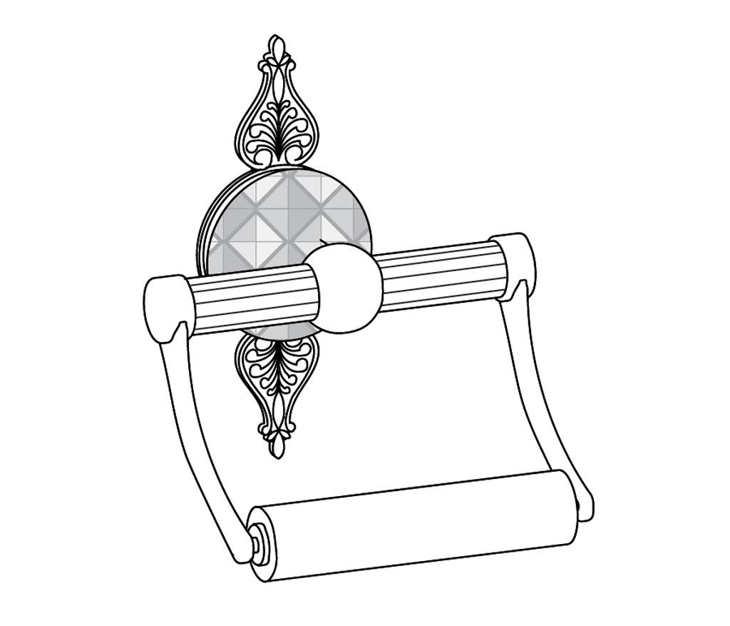C45-504 Porte-rouleau sans couvercle