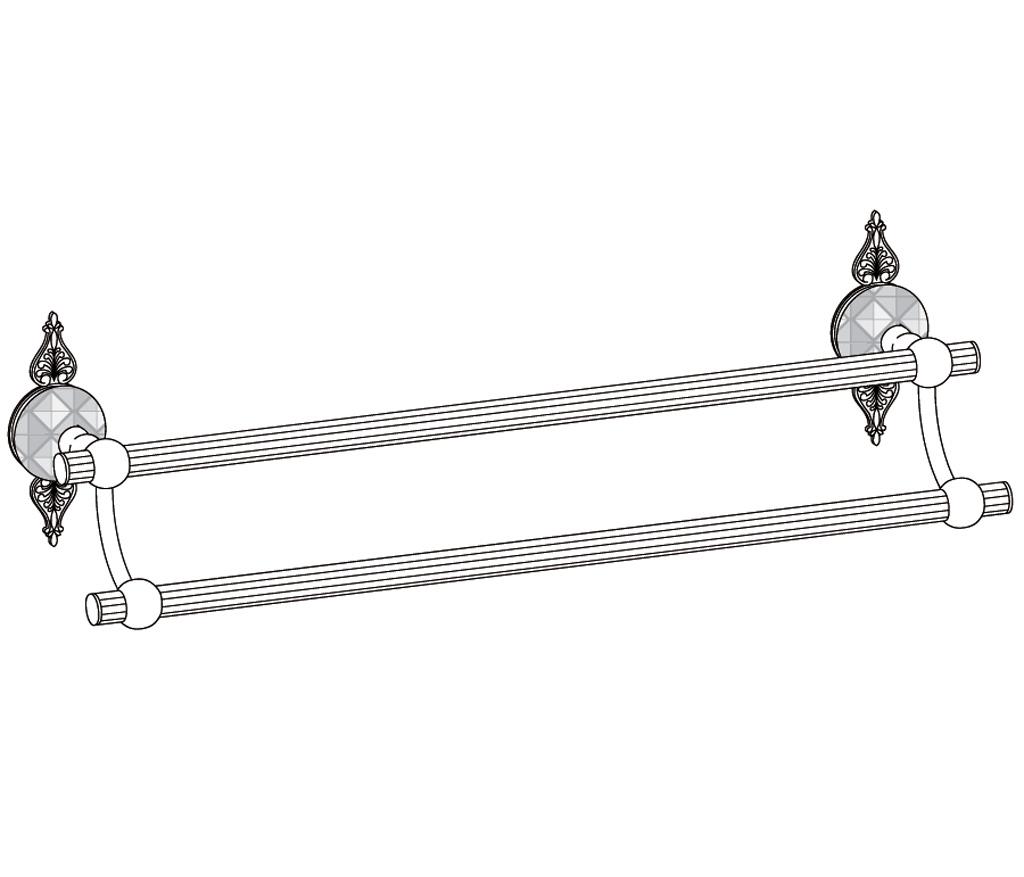 C45-509 Porte-serviette 2 barres fixes