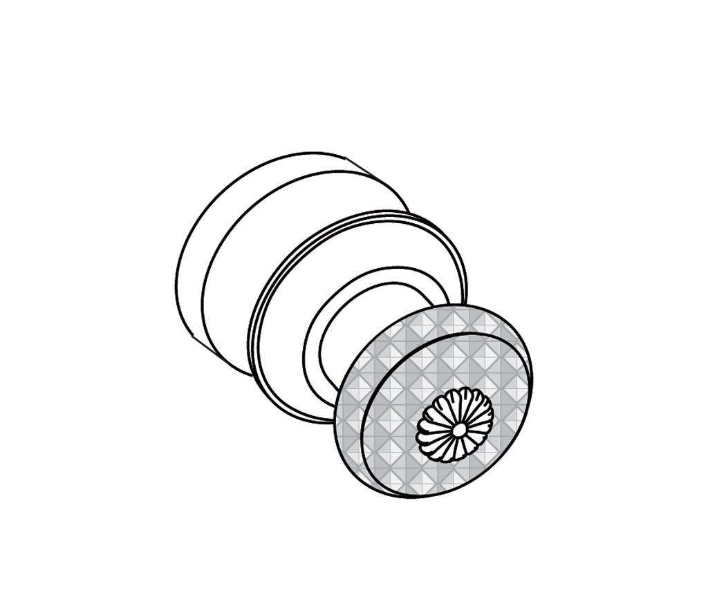 C45-527 Bouton de porte de douche