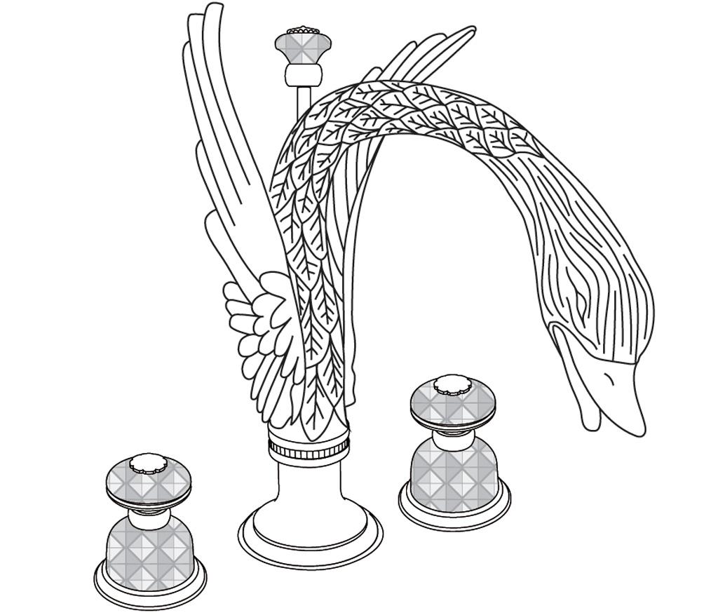 C46-1301 Mélangeur de lavabo 3 trous