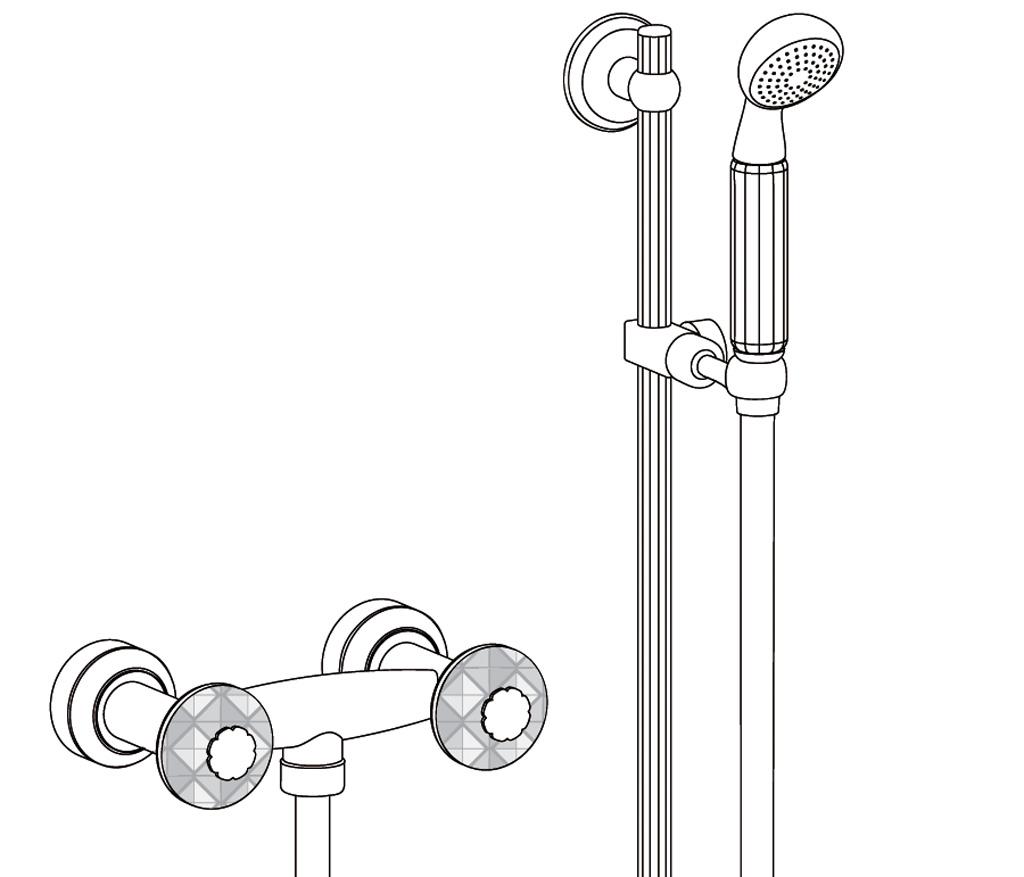 c46-2202 mélangeur de douche